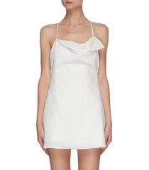 'la combinaison nappe' low back mini dress