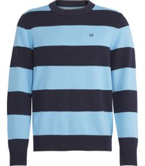 cotton sweater azul calvin klein