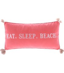levtex home coral eat sleep beach pillow bedding