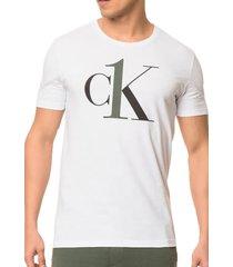 camiseta calvin klein ck one loungewear branca