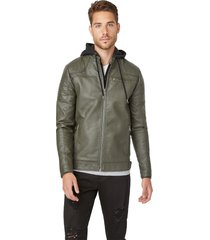 chaqueta g factory dan hooded jacket verde guess