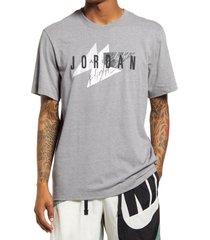men's jordan jumpman air graphic tee, size small - grey