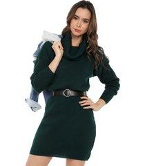 vestido talego cuello tortuga verde abiú