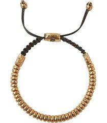 6mm distressed rondelle bracelet