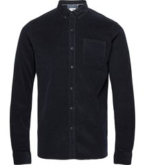 6200618, shirt - sdjuan ls corduroy skjorta casual blå solid
