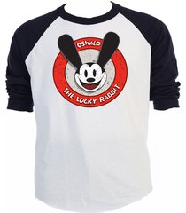 """oswald, the """"lucky rabbit"""" club, retro t-shirt,size s-=5xl, t-849blk"""