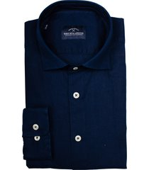 born with appetite linen shirt casual spread 21107li71/290 navy