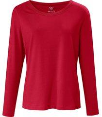 shirt met ronde hals en lange mouwen van basler rood