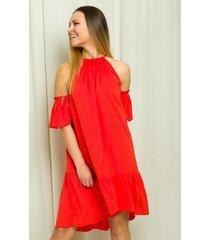sukienka z ozdobnym rękawkiem