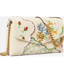 tory burch women's kira mixed floral chain wallet - afternoon tea