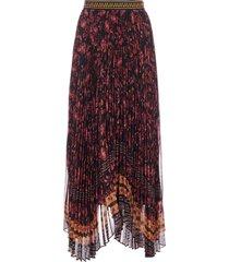alice + olivia katz floral print asymmetrical pleated skirt