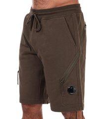 mens lens diagonal fleece shorts