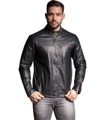 jaqueta parra couros masculina hd preto