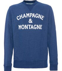 mc2 saint barth blue sweatshirt champagne & montagne