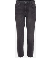 moss copenhagen | crystal mom jeans black washed