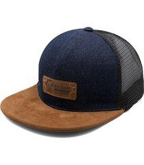 gorra azul oscuro-miel colore