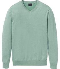maglione con scollo a v (verde) - bpc selection
