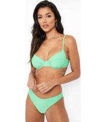 gerecyclede bikini top met beugel, green