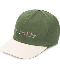 bonpoint logo print baseball cap - green