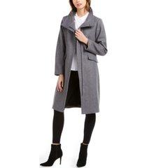vince camuto asymmetrical faux-fur-collar coat