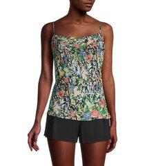parker women's silk-blend floral camisole top - cannes floral - size s