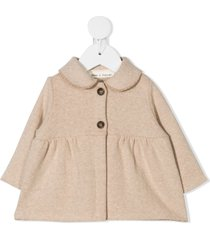 zhoe & tobiah peter pan collar knitted top - neutrals