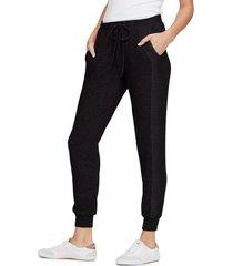 women's michael stars drawstring pull-on pants, size x-large - black