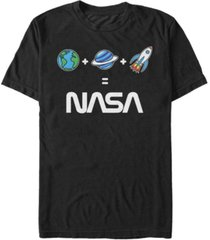 nasa men's emoji's equal nasa short sleeve t-shirt