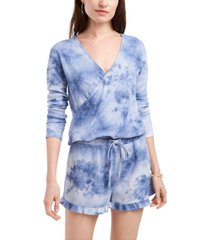1.state tie-dyed surplice top