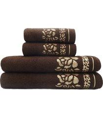 jogo de toalhas de banho 4 peças - appel - luanda