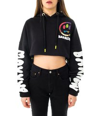 barrow felpa donna cropped hoodie woman 029452.110