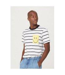 camiseta unissex manga curta smiley® - 4fhg1aen6