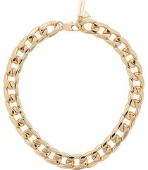coup de coeur chunky chain necklace - gold