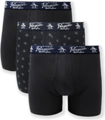 original penguin men's 3-pack signature pete boxer briefs