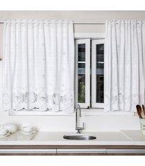 cortina portuguesa branca bule 2,20m x 1,20m único