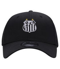 boné aba curva do santos ii new era 940 - snapback - adulto - preto