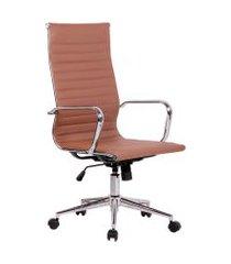 cadeira de escritório secretária sevilha i estofada marrom claro