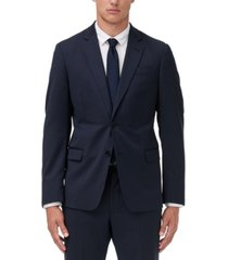 armani exchange men's slim-fit navy solid wool suit separate jacket