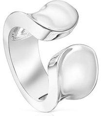anillo abierto tous basics liso de plata 110395510