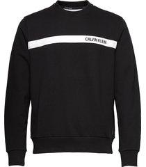 bold stripe logo sweatshirt sweat-shirt tröja svart calvin klein