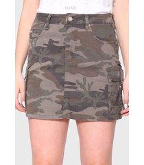 falda ellus militar verde - calce regular