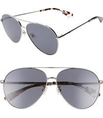 women's kate spade new york carolane 61mm special fit polarized aviator sunglasses -