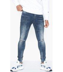 sixth june denim dirty jeans blue
