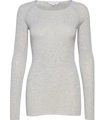 amalie solid t-shirts & tops long-sleeved grijs gai+lisva