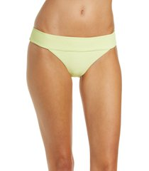 billabong tanlines banded tropic bikini bottoms, size x-large in shadow lime at nordstrom
