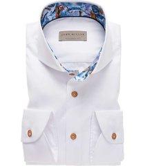 hemd john miller wit contrastkraag tailored fit