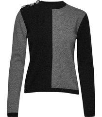 cashmere knit stickad tröja grå ganni