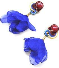 sutaszowe kolczyki z kwiatami juzcar