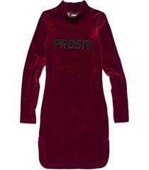 sukienka high neck dress oslo maroon