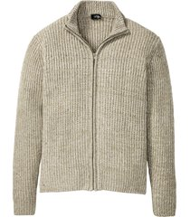 cardigan melange a coste (bianco) - bpc bonprix collection